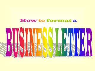 How  to  format a