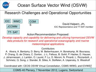 Ocean Surface Vector Wind (OSVW)