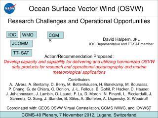 Ocean Surface Vector Wind (OSVW)