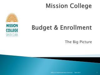 Mission College Budget & Enrollment