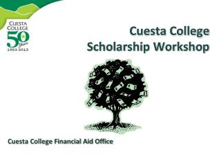 Cuesta College Scholarship Workshop