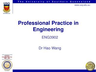 Professional Practice in Engineering