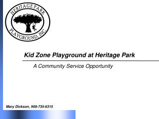 Kid Zone Playground at Heritage Park