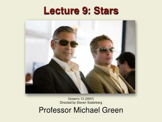 Lecture 9: Stars