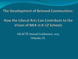AILACTE Annual Conference, 2013 Orlando, FL