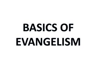 Basics of Evangelism