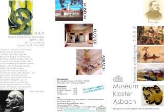 Museum Kloster  Asbach Zweigmuseum des Bayerischen Nationalmuseums