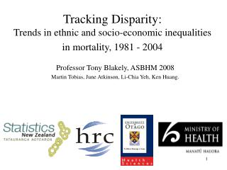 Tracking Disparity:  Trends in ethnic and socio-economic inequalities in mortality, 1981 - 2004
