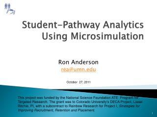 Student-Pathway Analytics Using Microsimulation