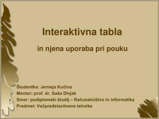 Interaktivna tabla