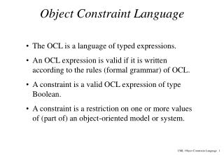 Object Constraint Language