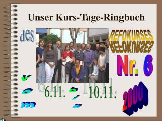 Unser Kurs-Tage-Ringbuch