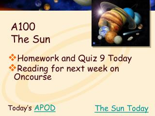 A100  The Sun