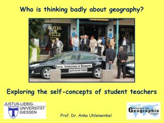 Who is thinking badly about geography? Exploring the self-concepts of student teachers