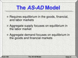 The  AS-AD  Model