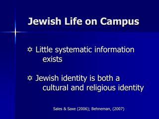 Jewish Life on Campus