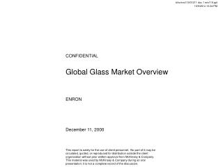 Global Glass Market Overview