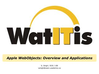 Apple WebObjects: Overview and Applications
