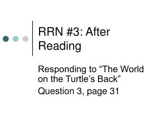 RRN #3: After Reading