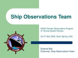 Ship Observations Team