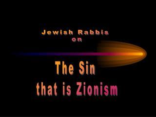 Jewish Rabbis  on