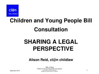 cl@n childlaw Children & Young People Bill Consultation Community Law Advice Network