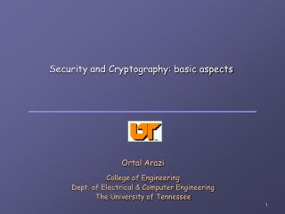 Security and Cryptography: basic aspects