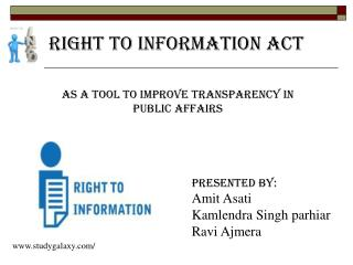 As a tool to improve Transparency in public affairs