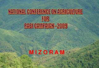 NATIONAL CONFERENCE ON AGRICULTURE  FOR  RABI CAMPAIGN - 2009