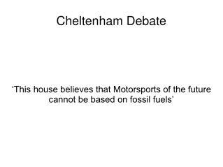 Cheltenham Debate