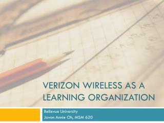 Verizon Wireless as a Learning Organization