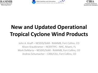 New and Updated Operational Tropical Cyclone Wind Products