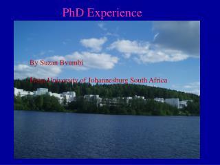 PhD Experience