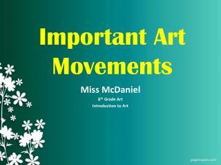 Important Art Movements