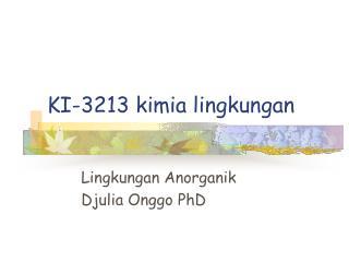 KI-3213 kimia lingkungan
