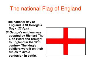 The national Flag of England