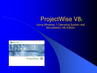 ProjectWise V8 i