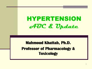 HYPERTENSION ABC & Update