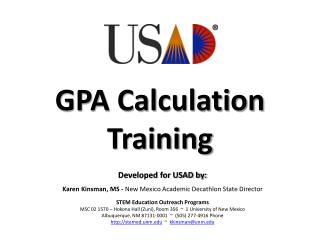 GPA Calculation Training