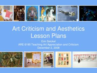 Art Criticism and Aesthetics Lesson Plans