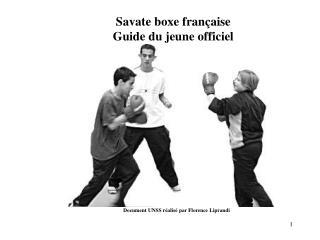 Savate boxe française Guide du jeune officiel
