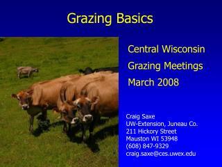 Grazing Basics