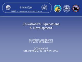 JCOMMOPS Operations & Development