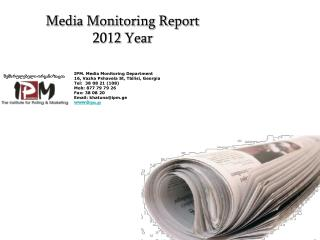 Media Monitoring Report  2012  Year