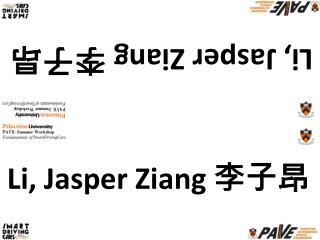 Li, Jasper  Ziang 李子昂