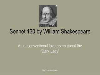 Sonnet 130 by William Shakespeare