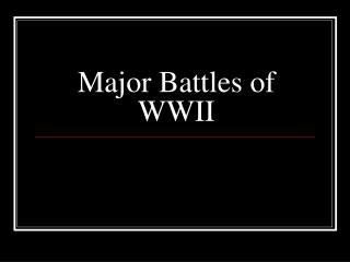 Major Battles of WWII