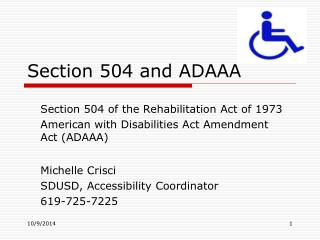 Section 504 and ADAAA