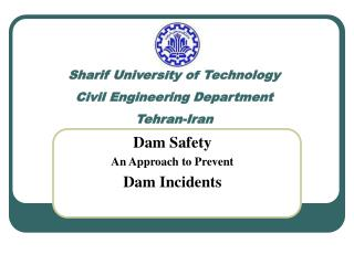 Sharif University of Technology Civil Engineering Department Tehran-Iran