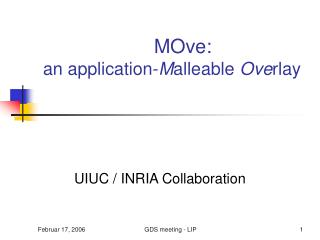 MOve:  an application- M alleable  Ove rlay